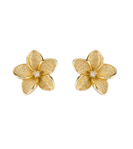Plumeria Stud Earrings