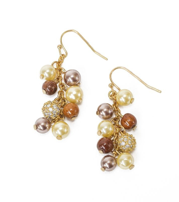 Ali'i Pearl Cluster Earrings