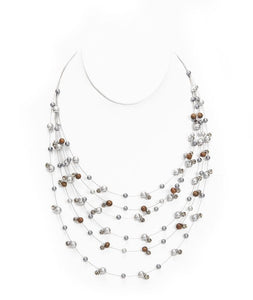 Ali'i Rhodium Pearl Illusion Necklace