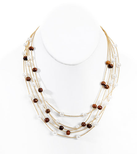 16 in Pearl Koa Illusion Necklace