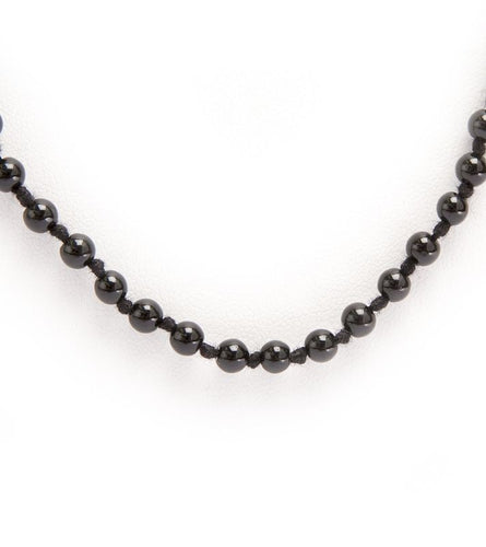 Black Onyx Bead Necklace