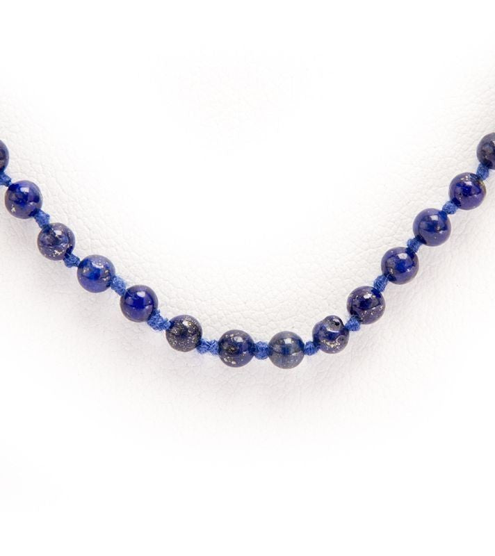 Blue Stone Bead Necklace