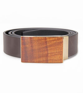 Koa Leather Belt
