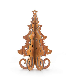 Koa 3D - Christmas Tree Table Topper: 6 inch, 8 inch, 10 inch