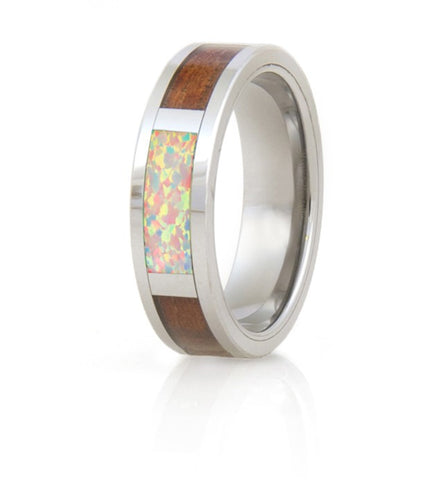 Koa Eternity Opal Ring