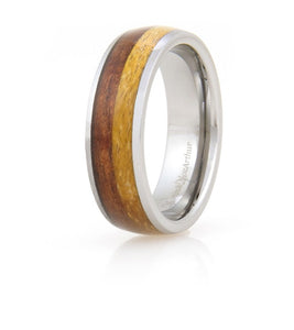 Koa Eternity Ring - Curved Hapa