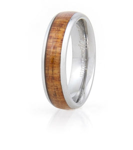 Koa Eternity Ring Curved