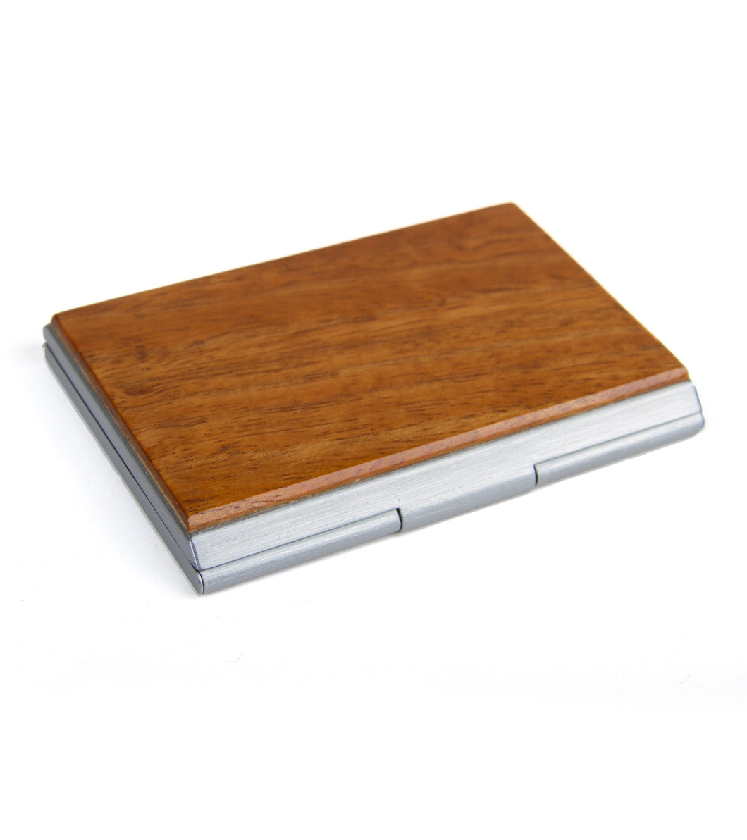 Koa Business Card Pocket Case - Silver