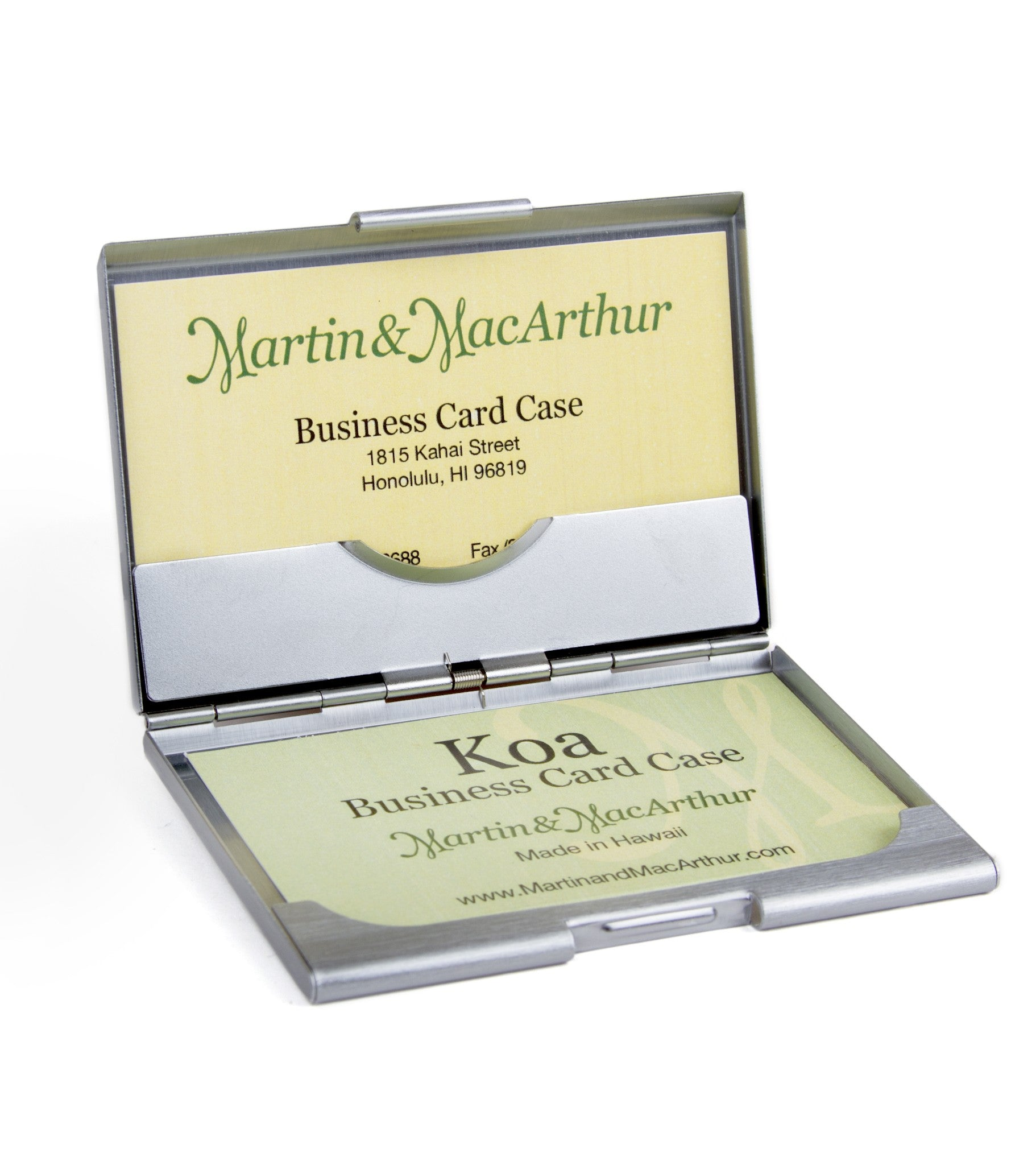 Koa Business Card Pocket Case – Martin & MacArthur
