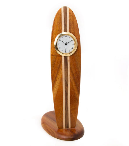 Koa Surfboard Clock - Small