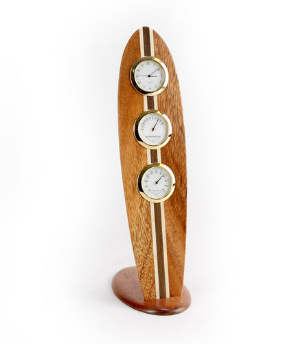Koa Surfboard Clock - Large