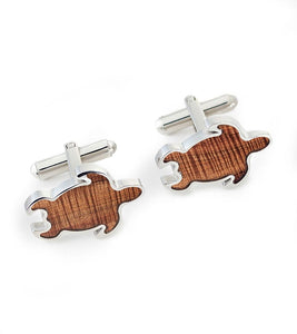 Koa Honu Cuff Links
