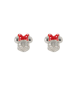 Disney's Minnie Mouse Sterling Silver Stud Earrings