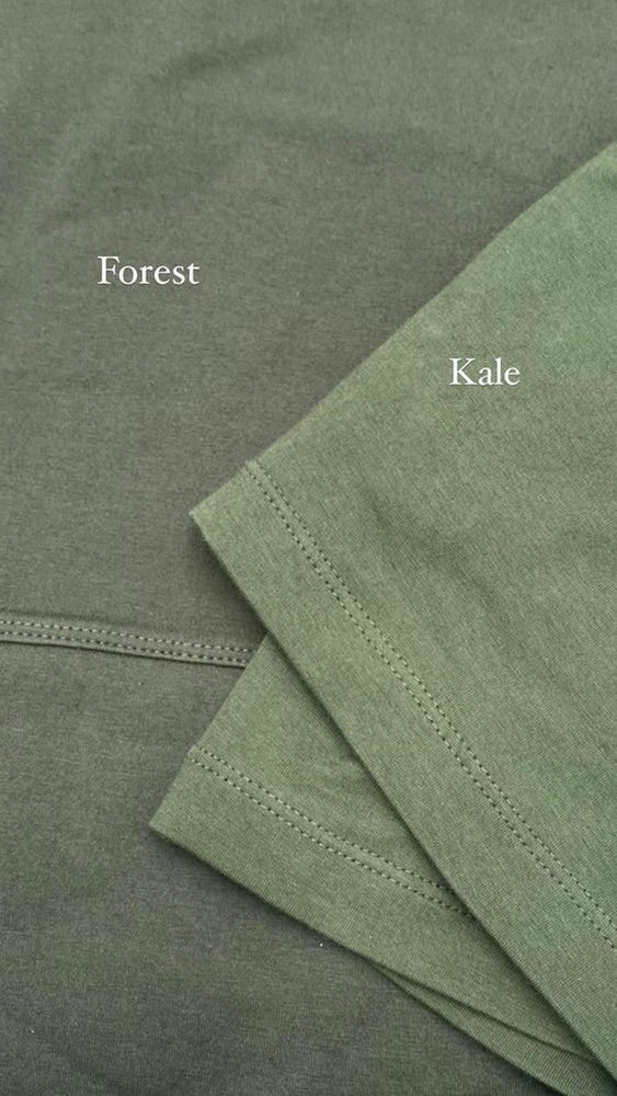Load image into Gallery viewer, Comparison of green Forest and green Kale colours
