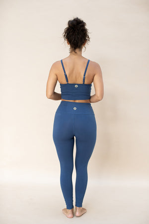 Load image into Gallery viewer, Woman standing, wearing Ananda Legging colour French blue