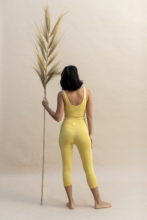Load image into Gallery viewer, Woman wearing Ananda Top colour Dandelion