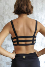 Woman wearing Boxy Crop Black