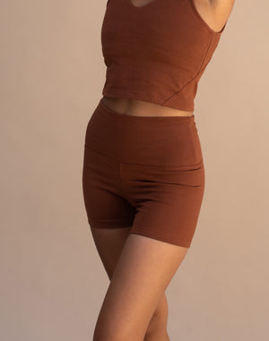 Load image into Gallery viewer, Ananda Yoga Shorts Spice