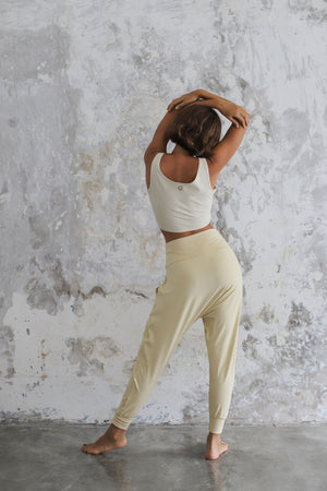 Load image into Gallery viewer, Woman wearing Indo Pants Cashew