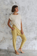 Woman wearing Layer Tee Cashew