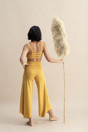 Load image into Gallery viewer, Woman wearing Layla Flares Saffron