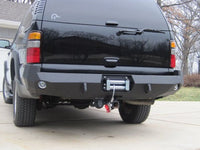 2001-2006 Chevrolet Tahoe Rear Base Bumper - Iron Bull Bumpers - REAR IRON BUMPER - Metal bumper for heavy duty trucks Perfect for CITY/OFF-ROAD applications with Light Buckets and Winch Mount included
