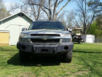 2002-2006 Chevrolet Avalanche 2500 Front Base Bumper (CLADDED VERSION ONLY) - Iron Bull Bumpers - FRONT IRON BUMPER - Metal bumper for heavy duty trucks Perfect for CITY/OFF-ROAD applications with Light Buckets and Winch Mount included