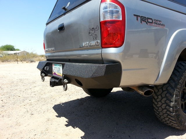 2003-2006 Toyota Tundra (4 Doors Only) Rear Base Bumper - Iron Bull Bumpers - REAR IRON BUMPER - Metal bumper for heavy duty trucks Perfect for CITY/OFF-ROAD applications with Light Buckets and Winch Mount included
