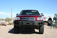 2003-2006 Toyota Tundra (Standard/Access Cab Only) Front Base Bumper - Iron Bull Bumpers - FRONT IRON BUMPER - Metal bumper for heavy duty trucks Perfect for CITY/OFF-ROAD applications with Light Buckets and Winch Mount included