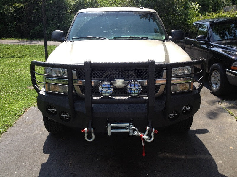 Add-on Carnage/Shredder/Reaper D-rings - Iron Bull Bumpers - ADD-ON - Metal bumper for heavy duty trucks Perfect for CITY/OFF-ROAD applications with Light Buckets and Winch Mount included