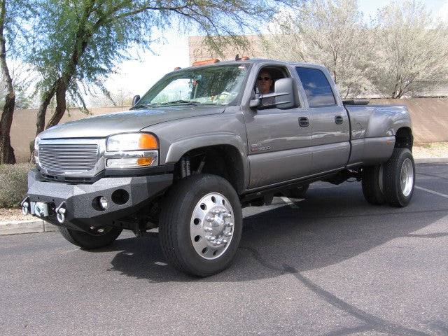 2003-2007 GMC 2500/3500 Front Base Bumper - Iron Bull Bumpers