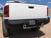 2002-2008 Dodge 1500 Rear Base Bumper - Iron Bull Bumpers - REAR IRON BUMPER - Metal bumper for heavy duty trucks Perfect for CITY/OFF-ROAD applications with Light Buckets and Winch Mount included