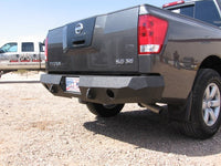 2004-2015 Nissan Titan Rear Base Bumper With Sensor Holes - Iron Bull Bumpers