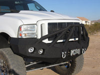 2005-2007 Ford F-250/350 Front Base Bumper - Iron Bull Bumpers - FRONT IRON BUMPER - Metal bumper for heavy duty trucks Perfect for CITY/OFF-ROAD applications with Light Buckets and Winch Mount included