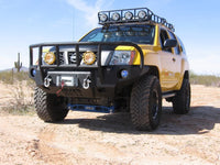 2009-2015 Nissan X-Terra Front Base Bumper (Grille must be changed) - Iron Bull Bumpers - FRONT IRON BUMPER - Metal bumper for heavy duty trucks Perfect for CITY/OFF-ROAD applications with Light Buckets and Winch Mount included