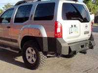 2005-2015 Nissan X-Terra Rear Base Bumper - Iron Bull Bumpers - REAR IRON BUMPER - Metal bumper for heavy duty trucks Perfect for CITY/OFF-ROAD applications with Light Buckets and Winch Mount included