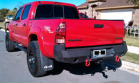 2005-2015 Toyota Tacoma Rear Base Bumper - Iron Bull Bumpers - REAR IRON BUMPER - Metal bumper for heavy duty trucks Perfect for CITY/OFF-ROAD applications with Light Buckets and Winch Mount included