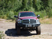 2006-2009 Dodge 2500/3500 Front Base Bumper - Iron Bull Bumpers - FRONT IRON BUMPER - Metal bumper for heavy duty trucks Perfect for CITY/OFF-ROAD applications with Light Buckets and Winch Mount included