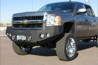 2007-2010 Chevrolet 2500/3500 Front Base Bumper - Iron Bull Bumpers - FRONT IRON BUMPER - Metal bumper for heavy duty trucks Perfect for CITY/OFF-ROAD applications with Light Buckets and Winch Mount included