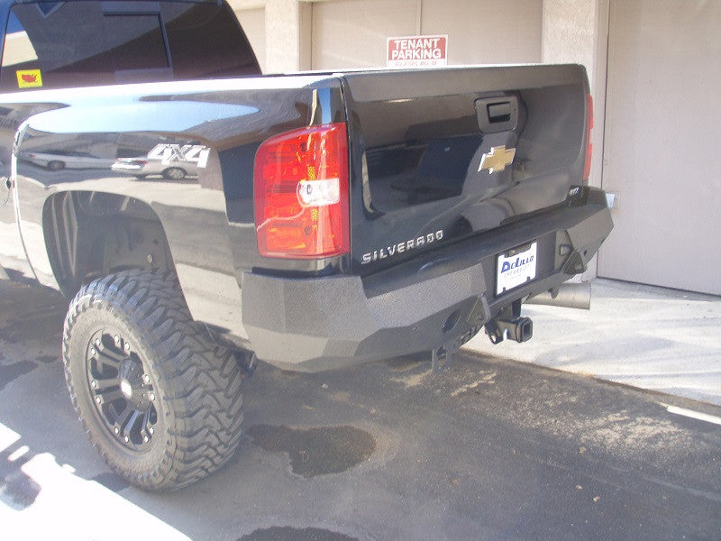 2007-2014 Chevrolet 2500/3500 Rear Base Bumper With Sensor Holes