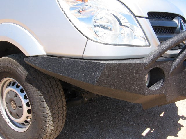 2007-2012 Dodge/Mercedes-Benz Sprinter Van Front Base Bumper - Iron Bull Bumpers - FRONT IRON BUMPER - Metal bumper for heavy duty trucks Perfect for CITY/OFF-ROAD applications with Light Buckets and Winch Mount included