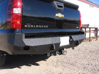 2002-2013 Chevrolet Avalanche (ALSO FOR NON- CLADDED VERSION) Rear Base Bumper With Sensor Holes - Iron Bull Bumpers - REAR IRON BUMPER - Metal bumper for heavy duty trucks Perfect for CITY/OFF-ROAD applications with Light Buckets and Winch Mount included