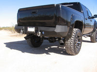 2007-2013 Chevrolet 1500 Rear Base Bumper Without Sensor Holes - Iron Bull Bumpers - REAR IRON BUMPER - Metal bumper for heavy duty trucks Perfect for CITY/OFF-ROAD applications with Light Buckets and Winch Mount included