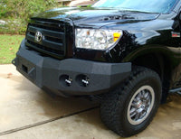 2007-2013 Toyota Tundra Front Base Bumper With Sensor Holes - Iron Bull Bumpers - FRONT IRON BUMPER - Metal bumper for heavy duty trucks Perfect for CITY/OFF-ROAD applications with Light Buckets and Winch Mount included