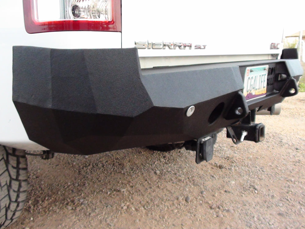2007-2013 GMC 1500 Rear Base Bumper Without Sensor Holes