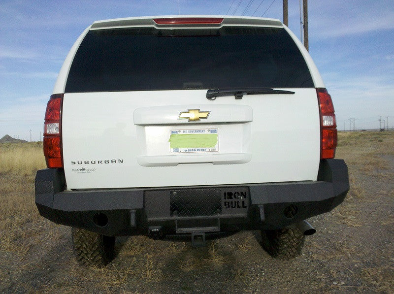 2007-2014 Chevrolet Suburban Rear Base Bumper Without Sensor Holes - Iron Bull Bumpers