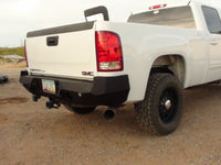2007-2013 GMC 1500 Rear Base Bumper With Sensor Holes - Iron Bull Bumpers