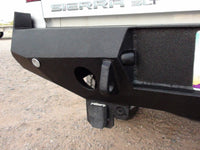 2007-2013 GMC 1500 Rear Base Bumper Without Sensor Holes - Iron Bull Bumpers - REAR IRON BUMPER - Metal bumper for heavy duty trucks Perfect for CITY/OFF-ROAD applications with Light Buckets and Winch Mount included