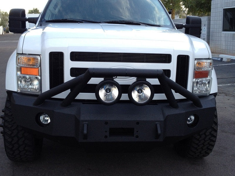 2008-2010 Ford F-450/550 Front Base Bumper With Fender Flare Adapters - Iron Bull Bumpers