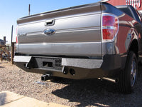 2009-2014 Ford F-150 Rear Base Bumper With Sensor Holes - Iron Bull Bumpers - REAR IRON BUMPER - Metal bumper for heavy duty trucks Perfect for CITY/OFF-ROAD applications with Light Buckets and Winch Mount included